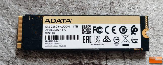 ADATA Falcon SSD Label