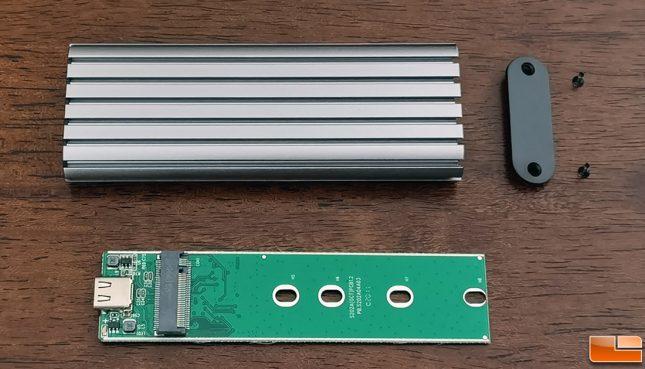 Alxum Aluminum M.2 NVME SSD Enclosure PCB
