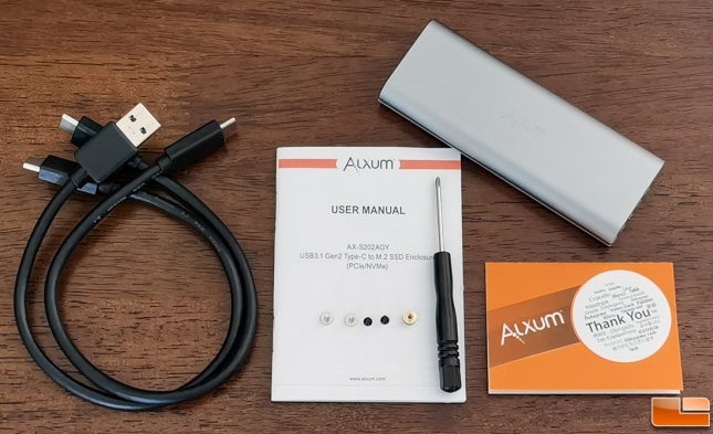 Alxum USB Type-C To M.2 Portable SSD Enclosure Accessories