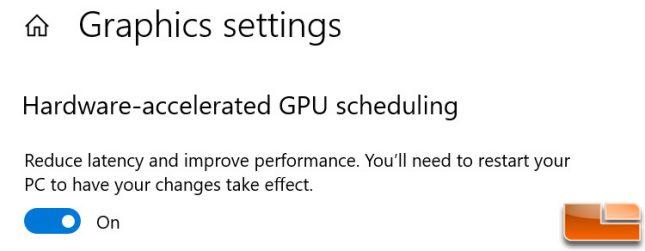 Hardware Accelerated GPU Scheduling Windows 10