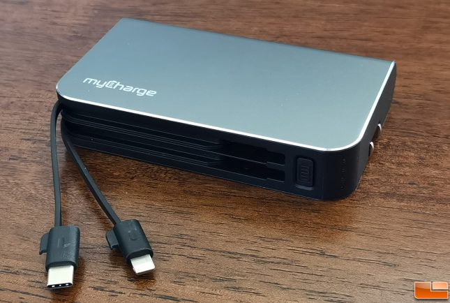 myCharge Hub Turbo Portable Charger Built-in Charging Cables