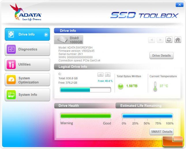 ADATA Swordfish SSD Toolbox Utility