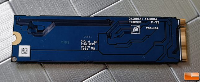 Toshiba Kioxia XG5-P 2TB NVMe SSD Single-Sided PCB