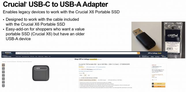 Crucial X6 Price Point Means No Adapter