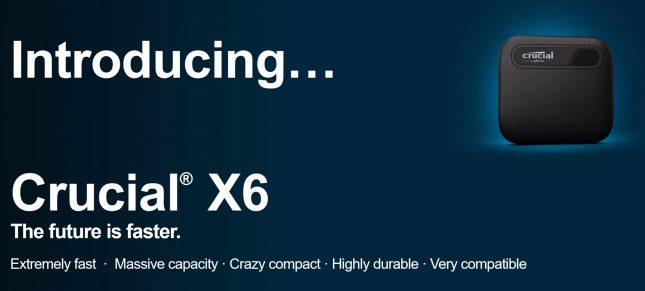 Crucial X6 Marketing Slide