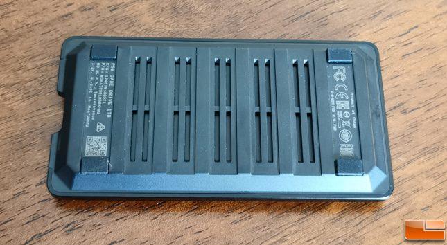 WD P50 Game Drive 1TB Portable SSD Bottom