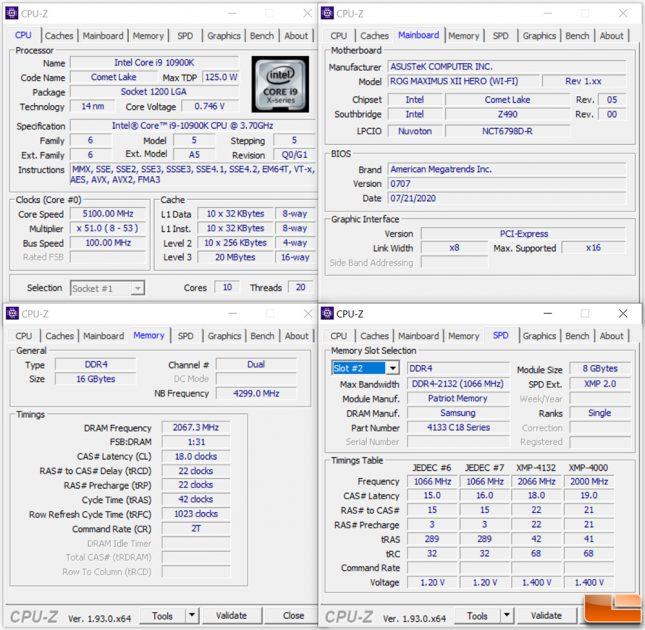 Patriot Viper Blackout 16GB 4130MHz DDR4 CPU-Z