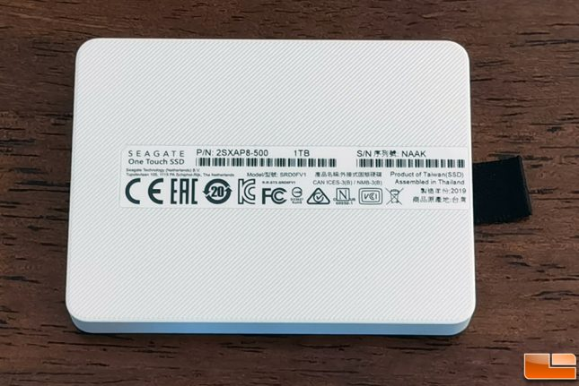Seagate One Touch SSD Bottom