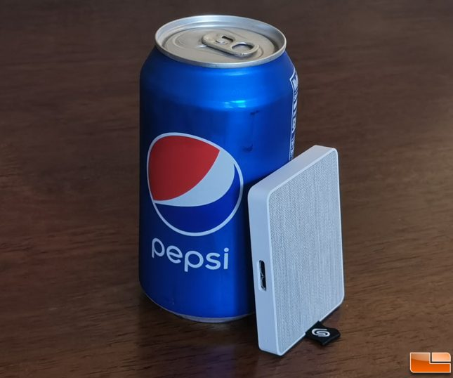 Seagaste One Touch SSD with Pepsi Can