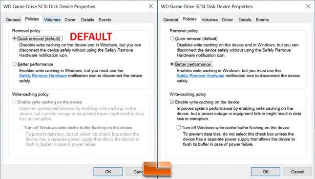 WD P50 Game Drive - Write Cache