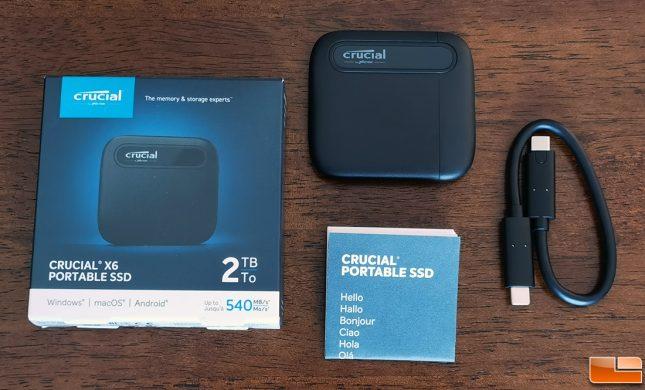 Crucial X6 Portable SSD 2TB Retail Drive