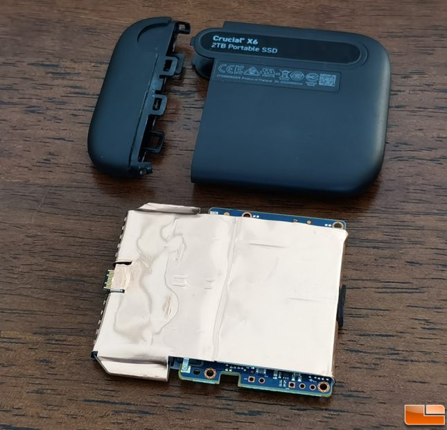 Crucial X6 Portable SSD Inside