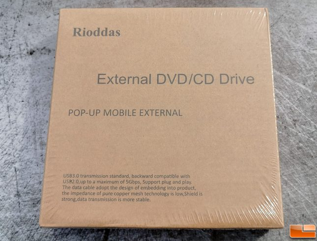 RIODDAS Pop-up Mobile External DVD CD Drive