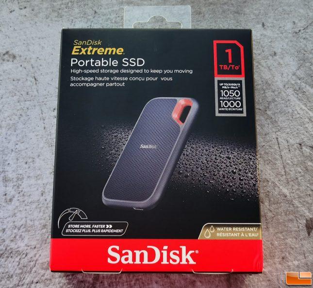 SanDisk Extreme Portable SSD V2 - 1TB Retail Box