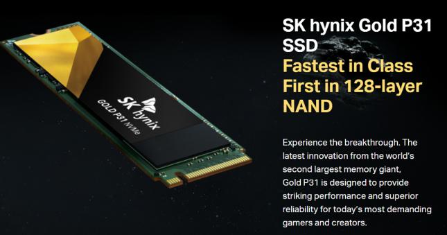 SK Hynix Gold P31 NVMe SSD