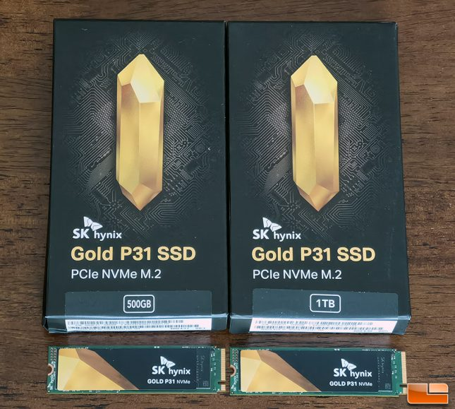 SK hynix Gold P31 500GB and 1TB NVMe SSDs