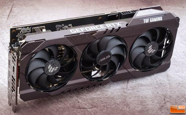 ASUS TUF Gaming GeForce RTX 3070 Angle