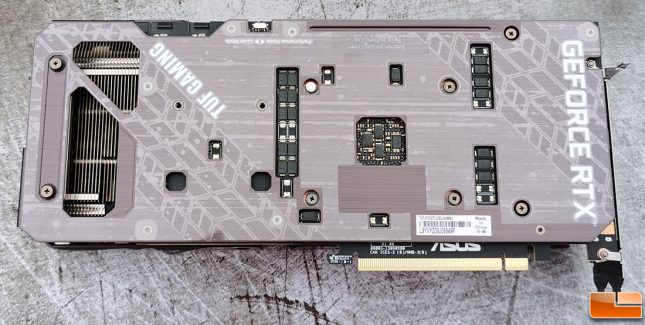 ASUS TUF Gaming GeForce RTX 3070 Graphics Card back