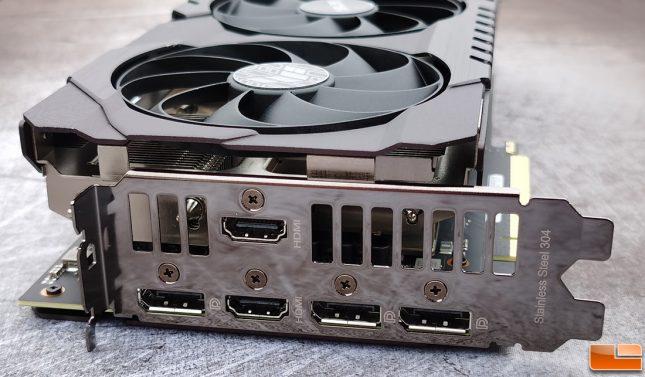 ASUS TUF Gaming GeForce RTX 3070 Display Outputs