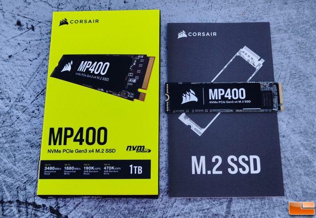 Corsair MP400 NVMe SSD Retail Box