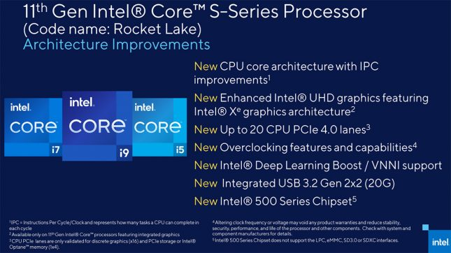 Intel Rocket Lake Architecture Improvements
