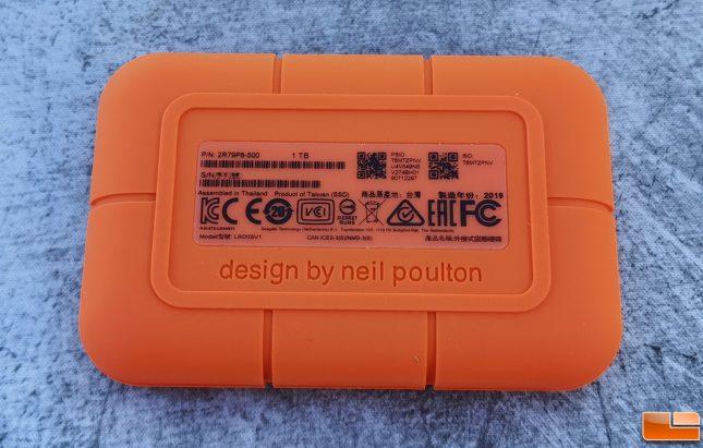 Lacie Rugged SSD 1TB Portable Drive Designed By Neil Poulton