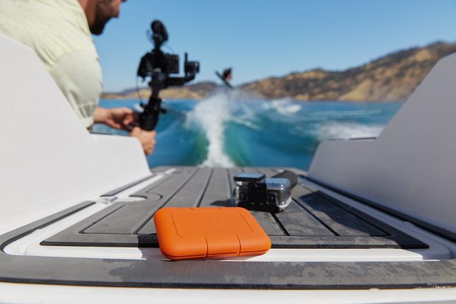 Lacie Rugged SSD on Boat