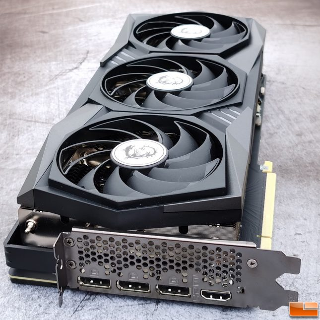 MSI GeForce RTX 3070 GAMING X TRIO 8GB Graphics Card Video Outputs