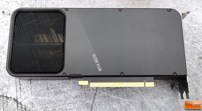NVIDIA GeForce RTX 3070 Founders Edition Backplate