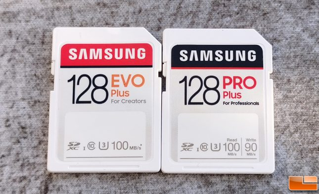 Samsung 128GB SD Card EVO Plus and Pro Plus
