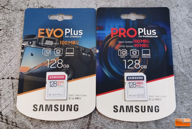 Samsung SD Card EVO Plus and Pro Plus