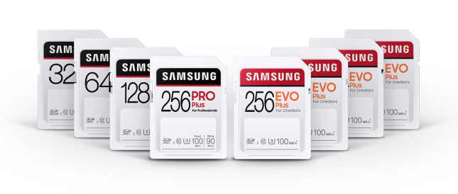 Samsung SD Card Series - PRO and EVO