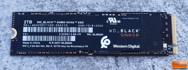 WD Black SN850 2TB NVMe SSD Front