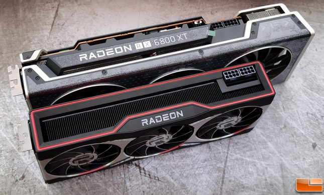 XFX Speedster MERC319 Radeon RX 6800 XT with reference card