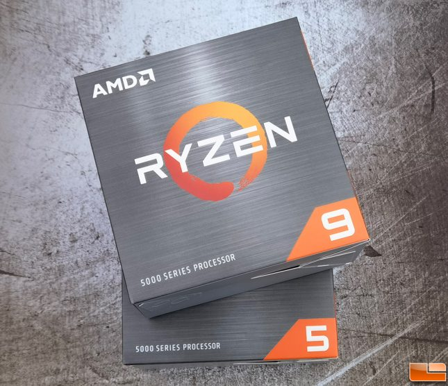 AMD Ryzen 5 5600X and Ryzen 9 5900X Retail CPU Boxes