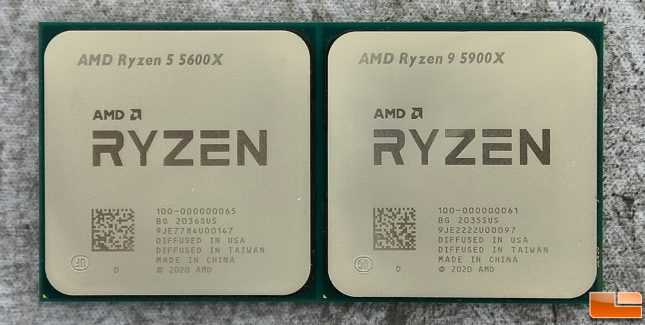 AMD Ryzen 5 5600X and Ryzen 9 5900X Desktop Processors