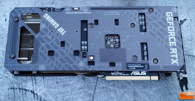 ASUS TUF Gaming GeForce RTX 3060 Ti Video Card Back