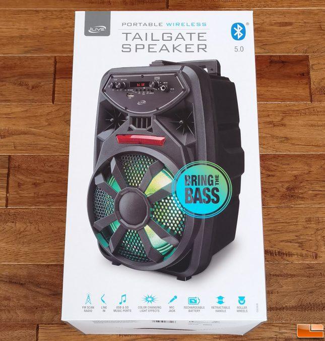 iLive ISB380B Tailgate Speaker Retail Box