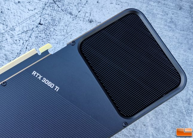 NVIDIA GeForce RTX 3060 Ti Founders Edition Back Angle