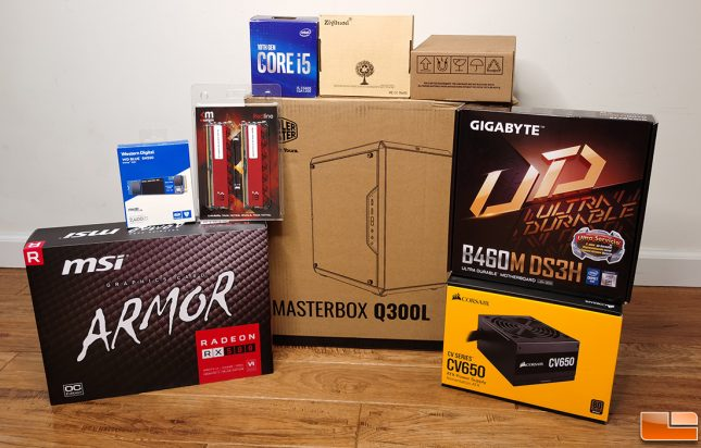 $750 Budget Gaming PC Build Hardware Boxes