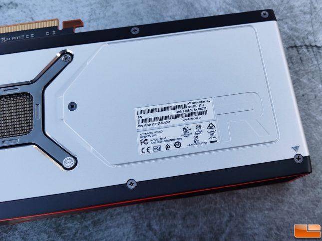 AMD Radeon RX 6900 XT Label