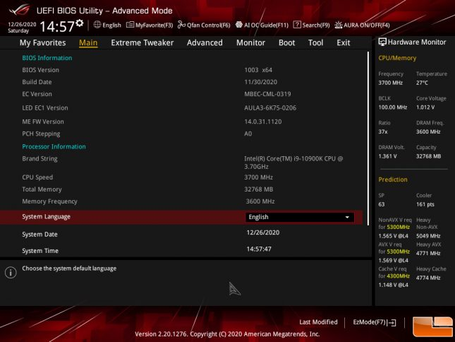 Re-Size BAR Support by ASUS on Intel Z490
