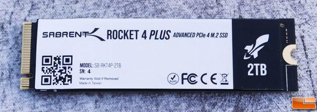 Sabrent Rocket 4 Plus NVMe SSD 2TB Back Drive Label
