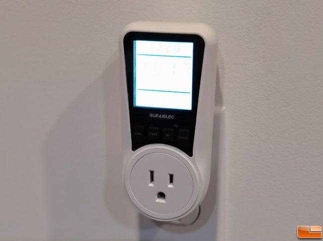 Suraielec energy watt meter upwma01a Backlit Display