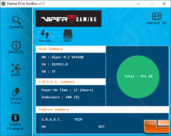 Patriot Viper Gaming Toolbox