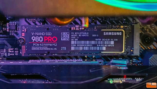 Samsung Magician 980 Pro 2TB Performance Installed
