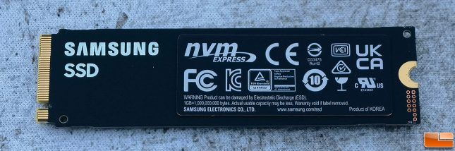 Samsung 980 Pro 2TB PCIe Gen4 NVMe SSD Back