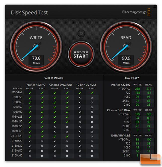 Patriot EP High Endurance microSDXC 128GB Blackmagic Speed Test