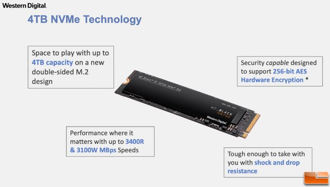 WD 4TB SN750 SN730 NVMe SSD