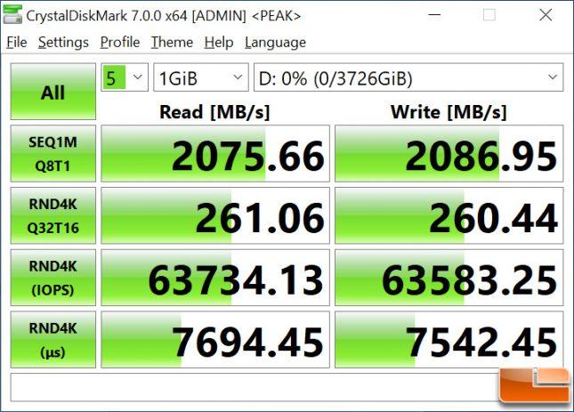 WD_BLACK P50 4TB Game Drive CrystalDiskMark
